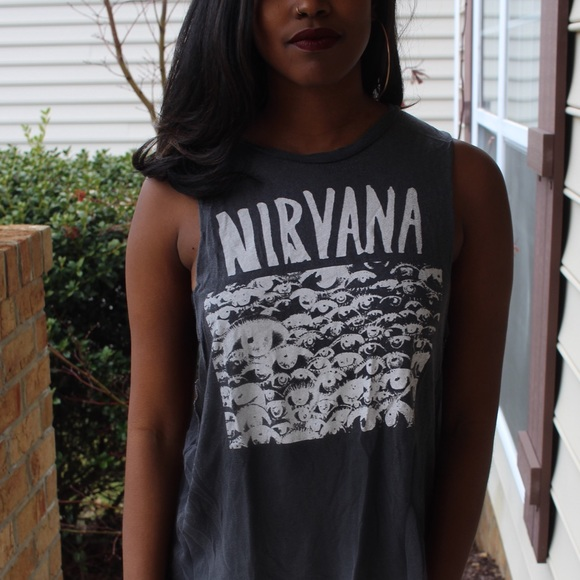 01a294d9 Brandy Melville Tops | Nirvana Muscle Tee | Poshmark